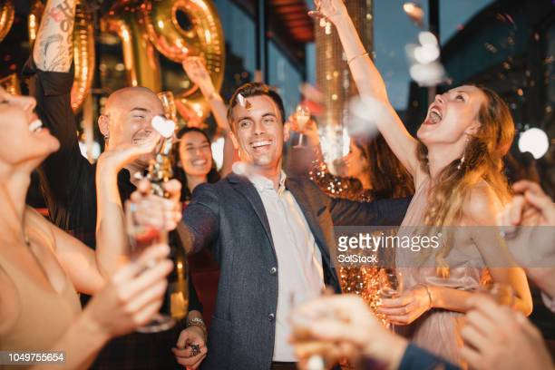new year celebrations - 2019 foto e immagini stock