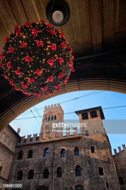 new year decoration and re enzo palace at the background. - emreturanphoto stock pictures, royalty-free photos & images