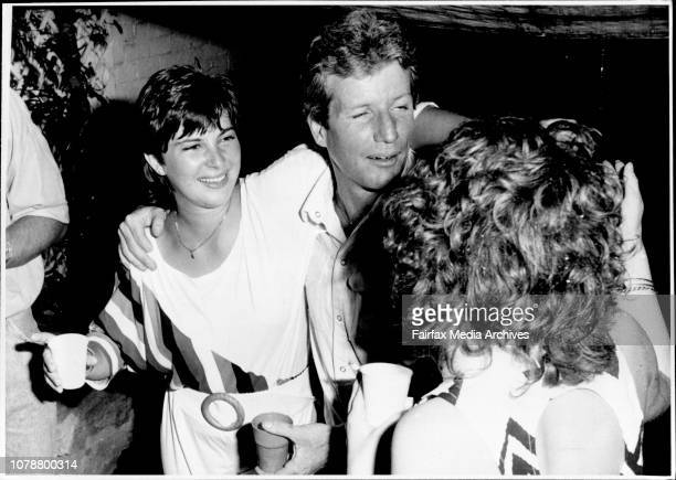 New Year eve party held by TV and Radio personality Jonathon Coleman at Annadale between 12 and 1 AM January 01 1987