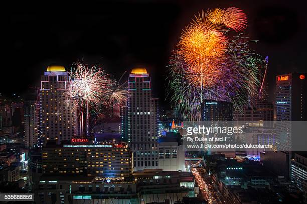 New Year Firework 2015 in Bangkok
