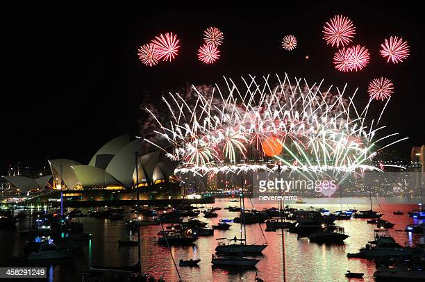 New Year Fireworks Over Sydney Harbour
