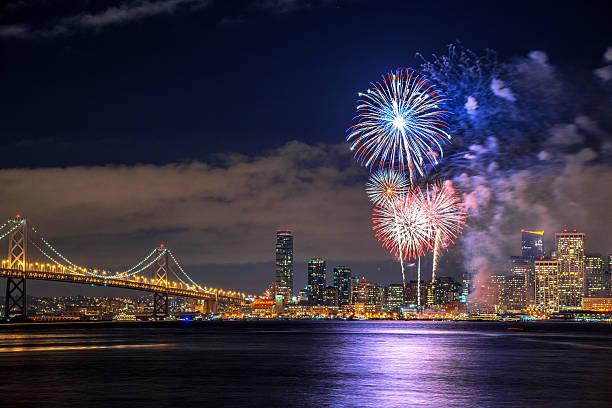 New Year Fireworks Wall Art