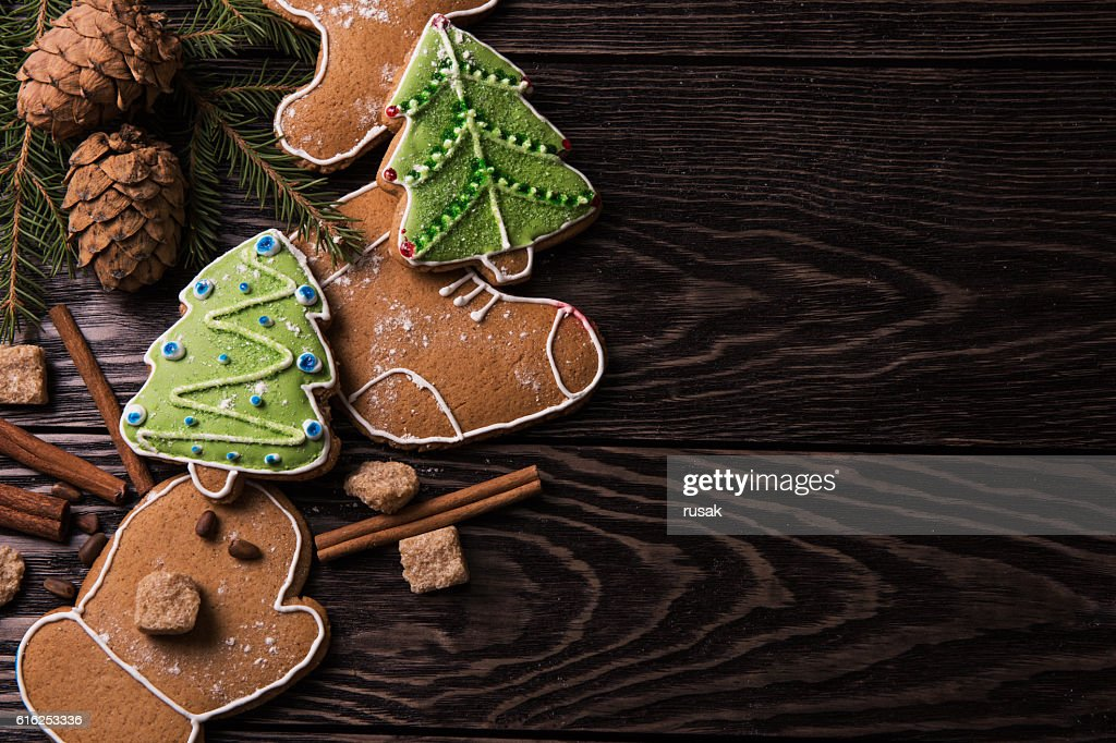 New year homemade gingerbread : Stock Photo