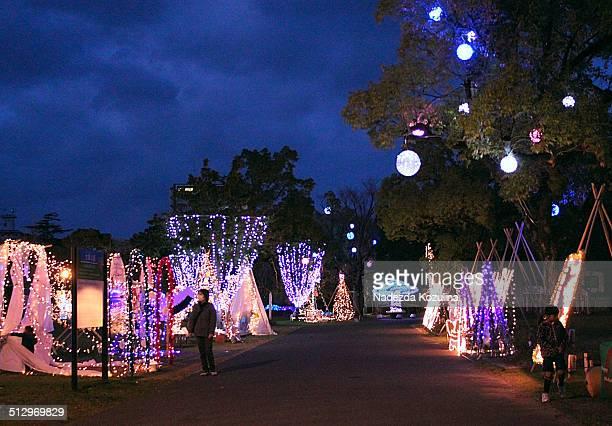 New Year illumination in Ogaki Park