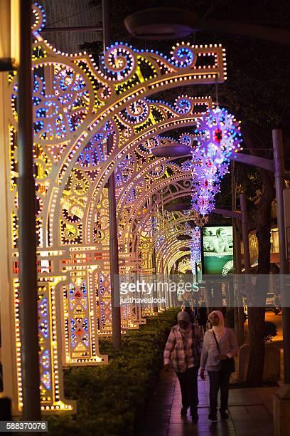 New year light deco on Rama 1 Road