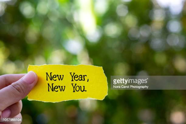 new year new you - quotation text stock photos and pictures