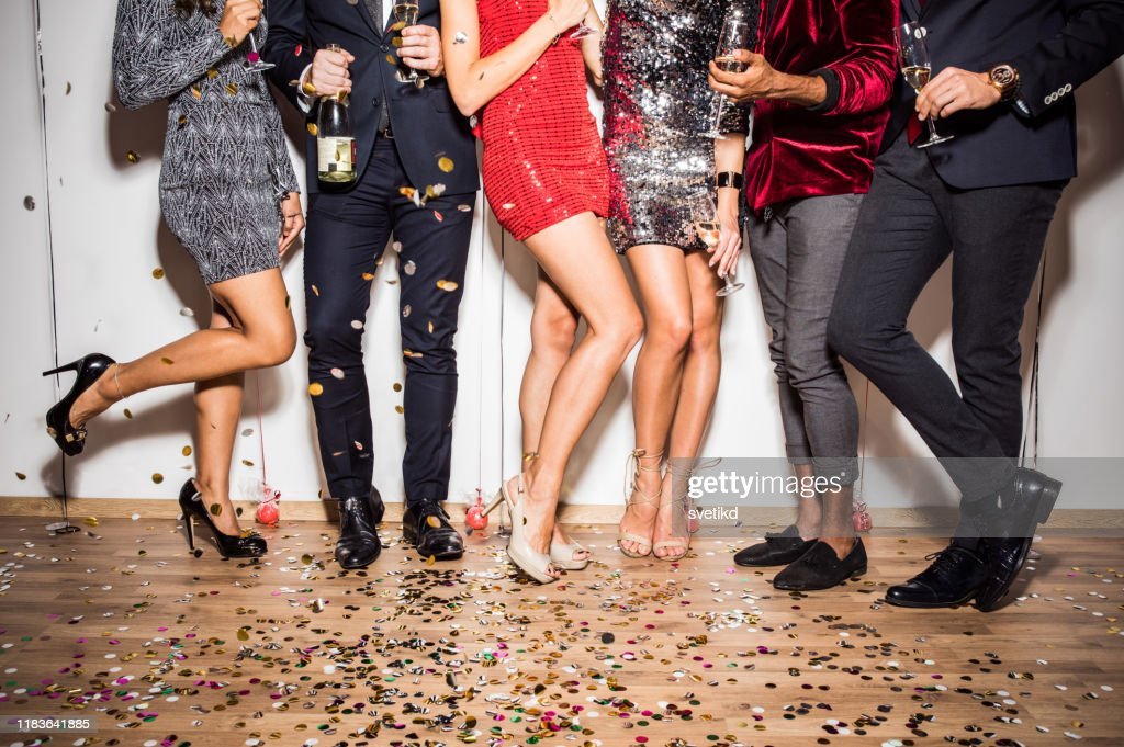 New Year party line up : Stock Photo