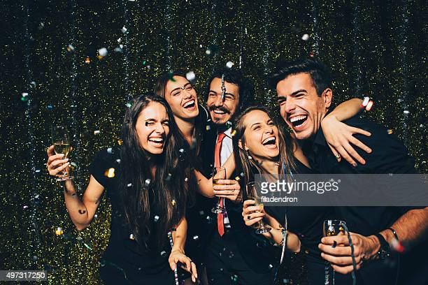 new year party - elegantie stockfoto's en -beelden