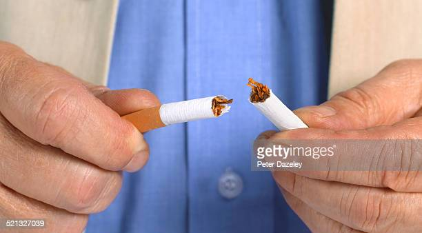 New year resolution giving up smoking