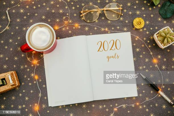 new year resolution goals - new year 2020 stock photos and pictures