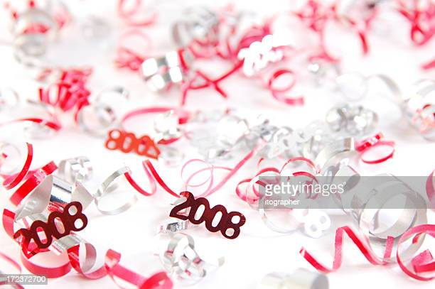 New Year's 2008 red and silver
