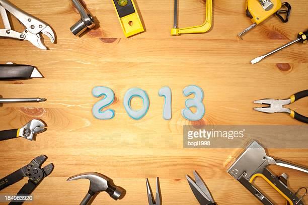 新しい年 2013 、作業ツールの背景