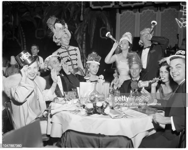 New Year's at Cocoanut Grove 31 December 1957 Mary Lee ClarkVan A HagenbaughMrs Shirley BergGray BergSylvia AllenDonald BeyerEpy BacaMrs Maude...