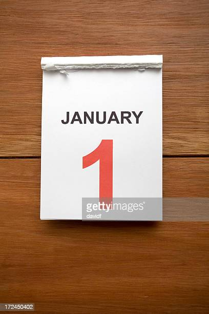 new years calendar - new year's day stock pictures, royalty-free photos & images