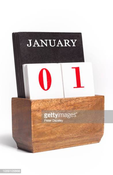 new years day calendar - january stock pictures, royalty-free photos & images