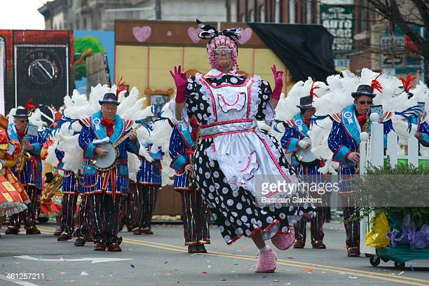 new year's day mummers parade - mummers parade stock photos and pictures