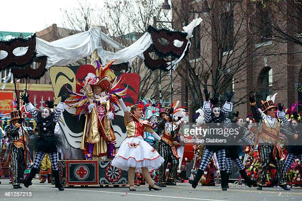new years day parade in philadelphia, pa - mummers parade stock photos and pictures