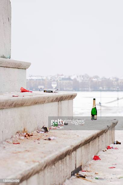 new years day, party aftermath - after party mess stock pictures, royalty-free photos & images
