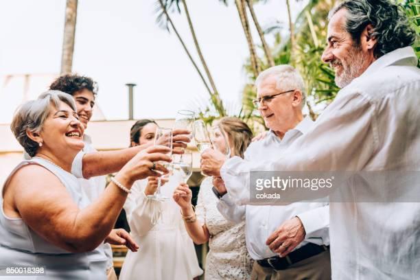 New year´s day toast celebration