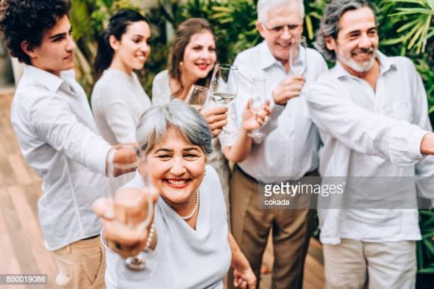 Nouvelle journée year´s toast célébration