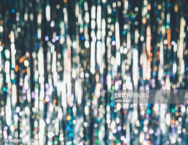 new years eve background, new years eve, new years, new years background, glitter background, glitter curtain, silver background, silver tinsel background, silver tinsel curtain, glittery, party background - overexposed stock pictures, royalty-free photos & images