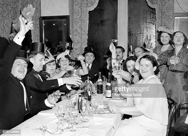 New Year's Eve celebration in Chicago, ca. 1940