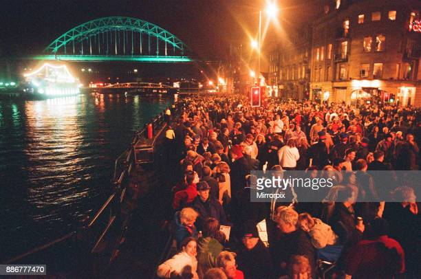 New Year's Eve celebrations at the Quayside for the millennium, 1st January 2000.
