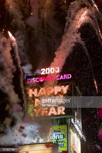 December 31: Y2K New Year's Eve Celelbration of 1999 into the year 2000 in Times Square on Decemner 31, 1999 in New York City.