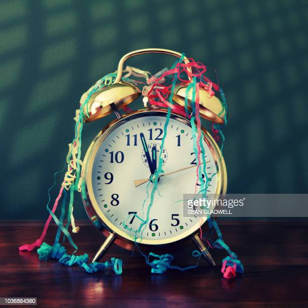 new year's eve countdown - midnight stock pictures, royalty-free photos & images