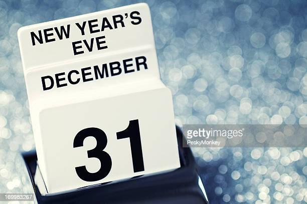 Silvester, 31. Dezember, Kalender Glitzer-Hintergrund