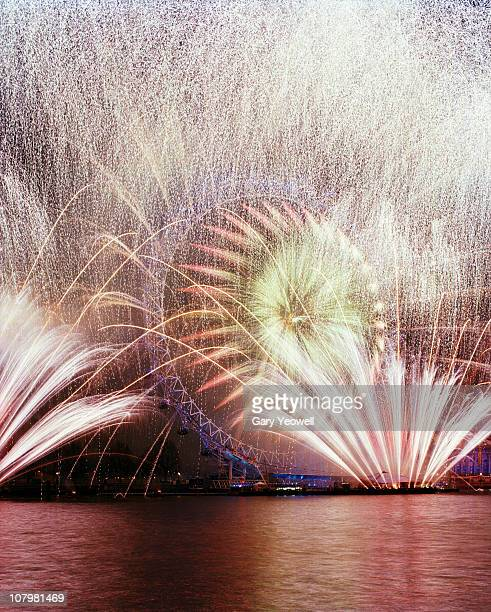 New Years Eve fireworks display over London