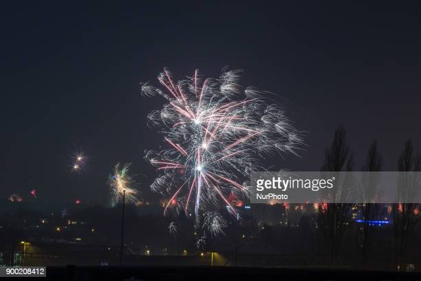 New Years Eve Fireworks in Eindhoven Netherlands on 1st January 2018 At least an hour intense show of fireworks but crackers and other fireworks are...