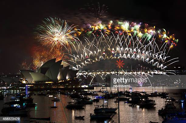New Year's Eve Fireworks Over Sydney Harbour, Australia