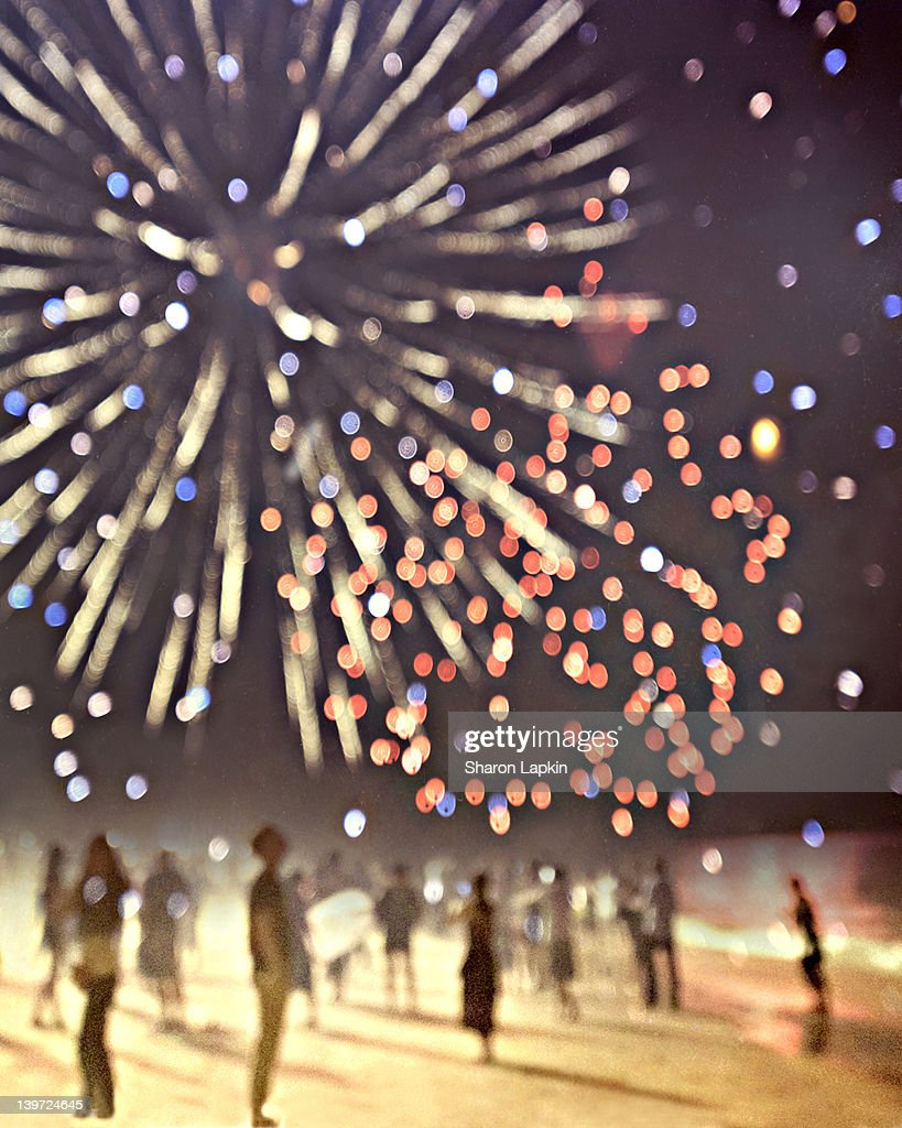 New Year's Eve fireworks : Stock Photo