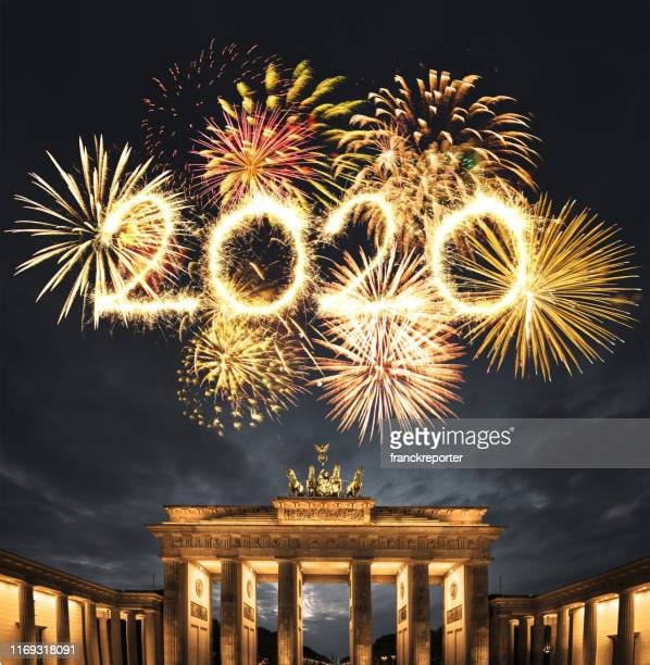 new year's eve in berlin - 2020 stock pictures, royalty-free photos & images