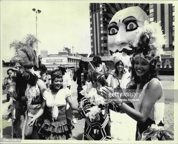 New Years Eve Mardi Gras rehearsing at Luna Park today. November 28, 1985. .