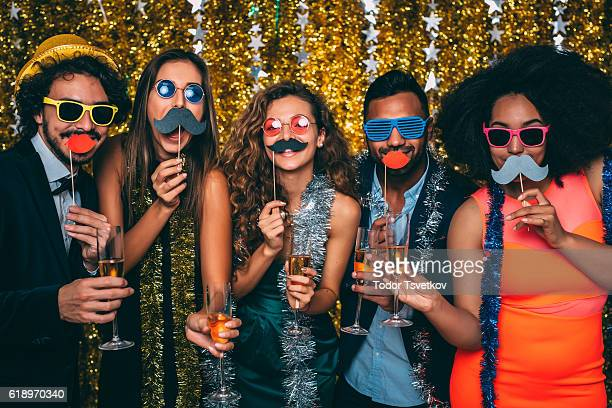 new year's eve - multi colored hat stock pictures, royalty-free photos & images