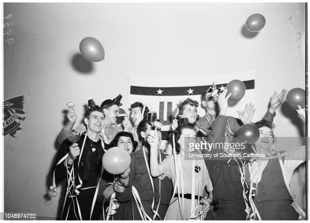 New Year's Eve Pictures 31 December 1951 Servicemen and hostesses bring in 1952 at Catholic United Service Organizations Center at 807 South Flower...