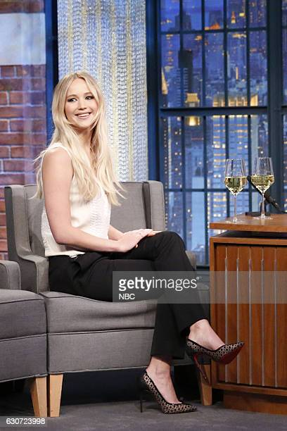 MEYERS New Year's Eve Special Pictured Actress Jennifer Lawrence during the Late Night with Seth Meyers New Year's Eve Special airing on December 31...