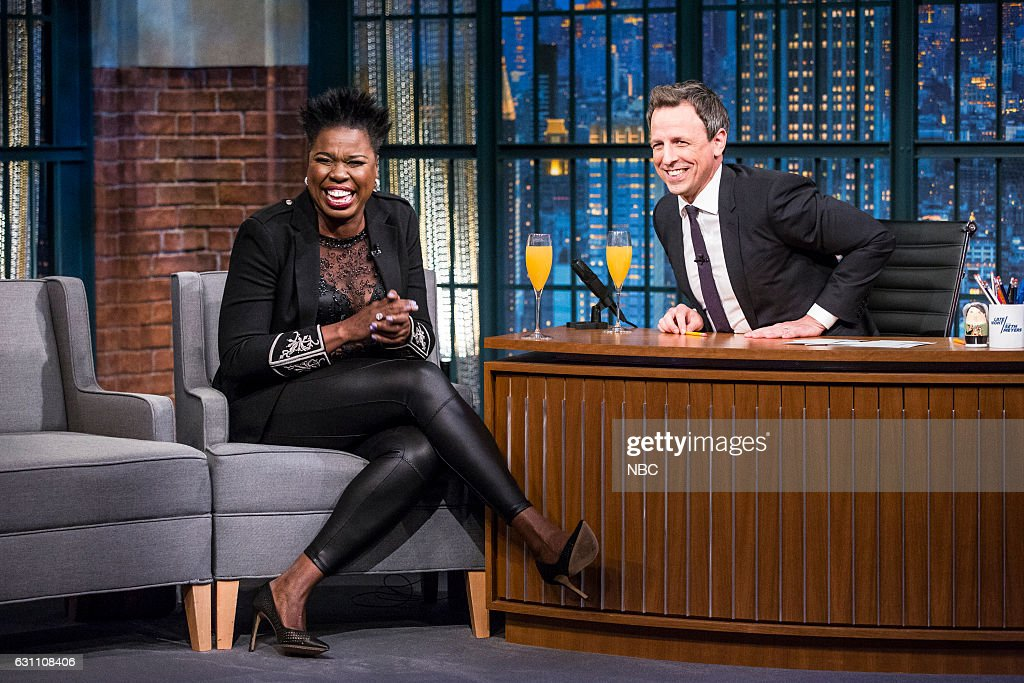 "NBC's ""Late Night with Seth Meyers New Year's Eve Special"" with guests Jennifer Lawrence, Leslie Jones, Kelly Clarkson, Arnold Schwarzenegger"
