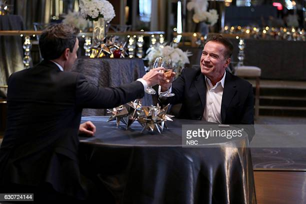 MEYERS 'New Year's Eve Special' Pictured Host Seth Meyers and Arnold Schwarzenegger during the 'Arnold Schwarzenegger's New Year's Eve Bash' sketch...