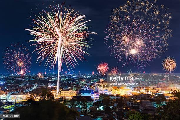 New year's fireworks celebration