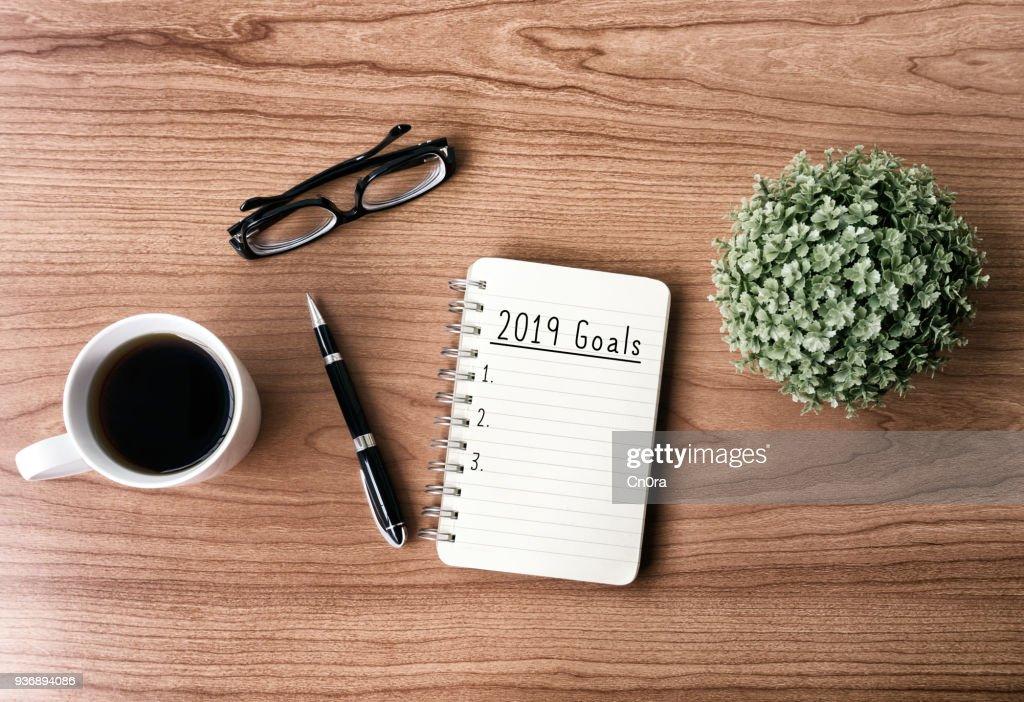 2019 New Year's Goals : Stock Photo