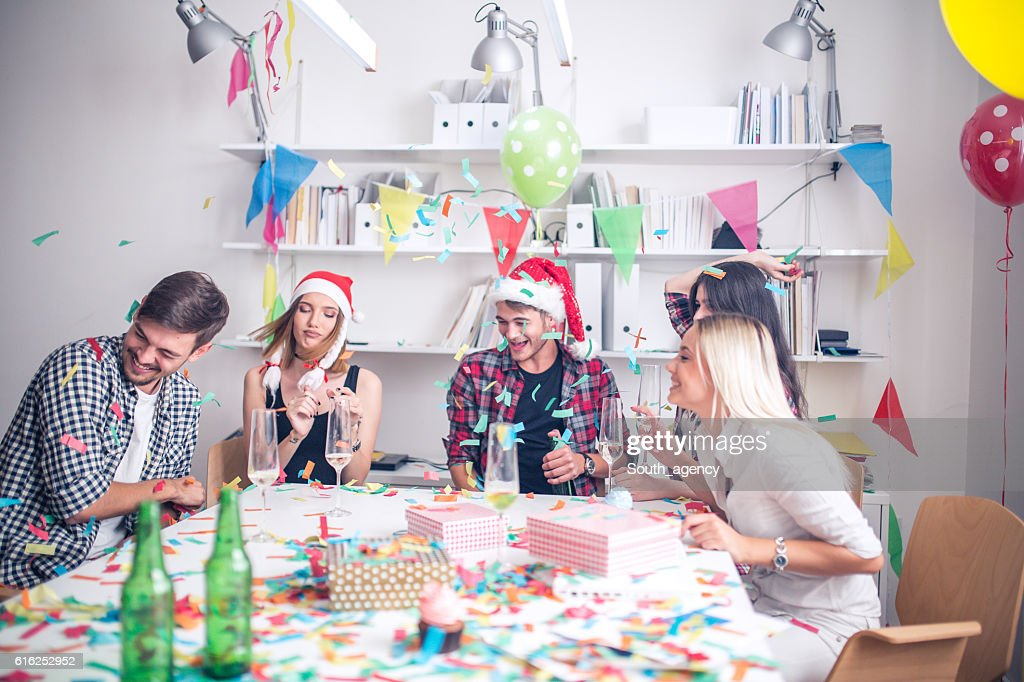 New year's office party : Foto de stock