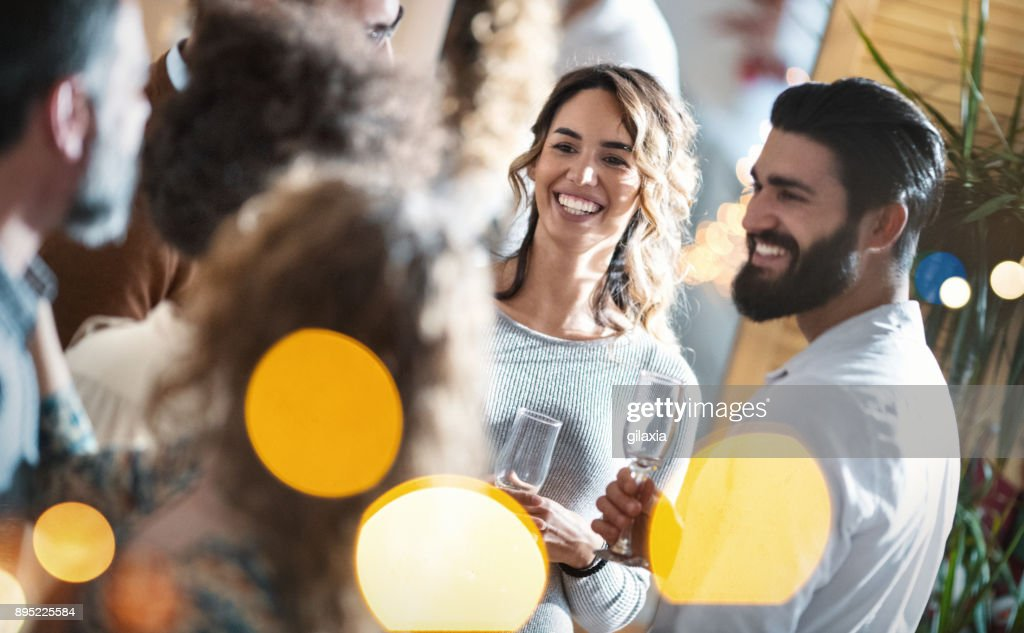 New Year's party at home 4k : Stock Photo