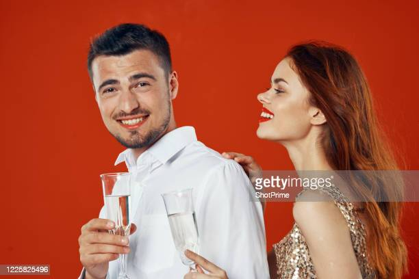 new year's party for a married couple. - drunk wife at party stock pictures, royalty-free photos & images