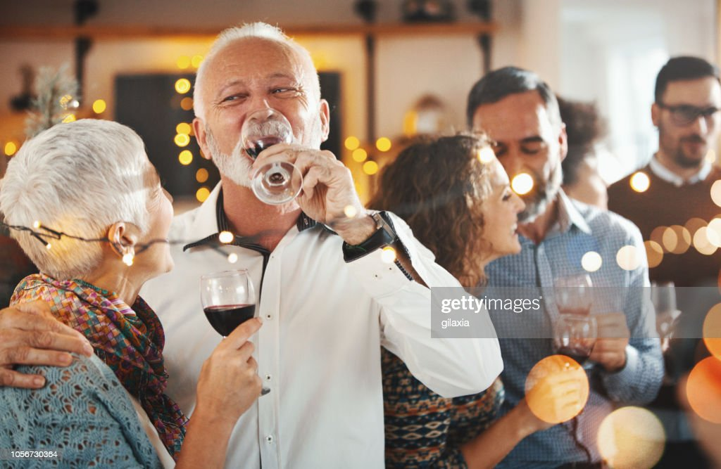 New Year's party. : Stock Photo