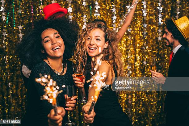 new year's party - gold dress stock pictures, royalty-free photos & images