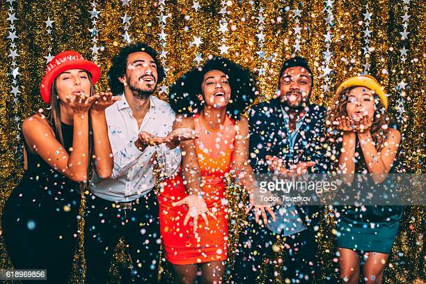new year's party - work party stock pictures, royalty-free photos & images