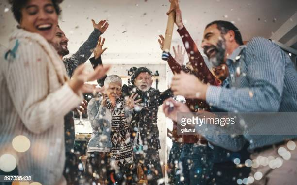 new year's party. - celebration stock pictures, royalty-free photos & images